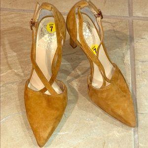 Vince Camuto camel color heels